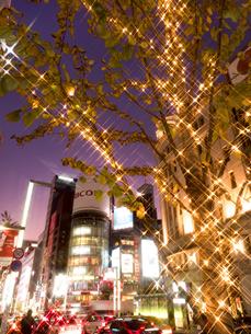 東京都 銀座のイルミネーションの写真素材 [FYI03456930]