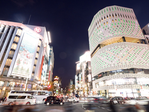 東京都 銀座四丁目交差点の写真素材 [FYI03456942]
