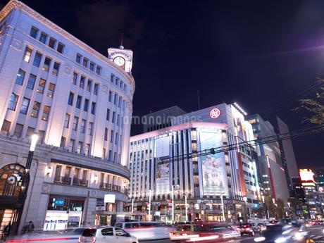 東京都 銀座四丁目交差点の写真素材 [FYI03456943]