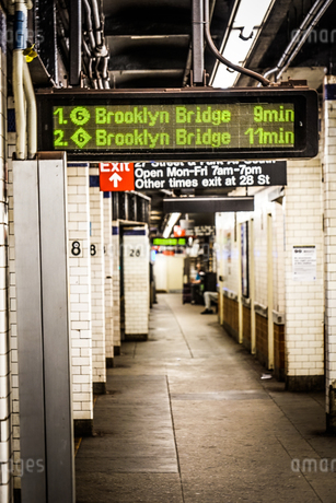ニューヨークの地下鉄のイメージの写真素材 [FYI03456979]