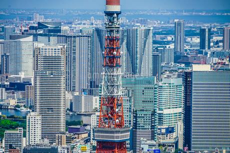 東京タワーと都市風景の写真素材 [FYI03457008]
