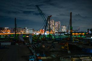 横浜・みなとみらいの工事現場の写真素材 [FYI03457116]
