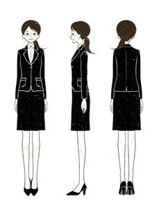 女性-スーツ-全身のイラスト素材 [FYI03457147]