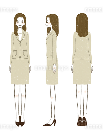 女性-スーツ-全身のイラスト素材 [FYI03457148]