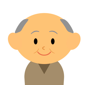 おじいさんのイラスト素材 [FYI03457654]