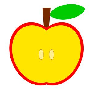 リンゴの断面のイラスト素材 [FYI03457655]