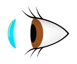 目とコンタクトレンズのイラスト素材 [FYI03457660]