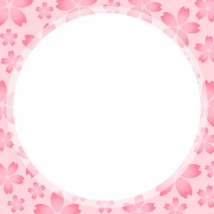 桜のフレームのイラスト素材 [FYI03457662]
