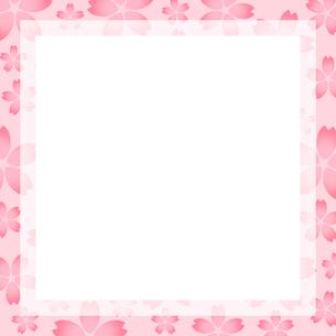 桜のフレームのイラスト素材 [FYI03457663]