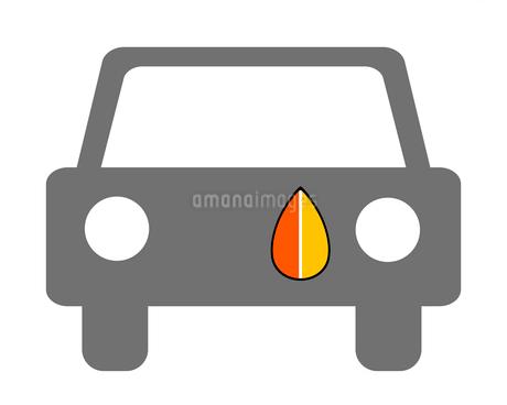 もみじマークの貼られた車のイラスト素材 [FYI03457665]