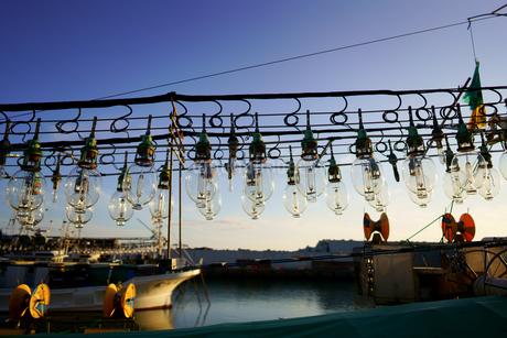 イカ釣り漁船の写真素材 [FYI03457706]