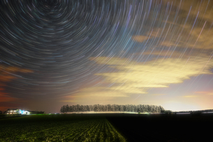 星の軌跡の写真素材 [FYI03457709]