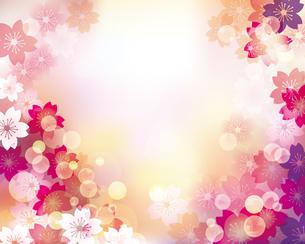 桜 春 背景 イラストのイラスト素材 [FYI03457720]