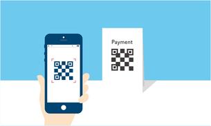 QRコード決済のイメージのイラスト素材 [FYI03457796]