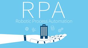 RPA、ロボットと企業のイメージのイラスト素材 [FYI03457804]