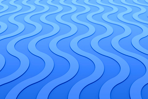 並ぶ波状の線 CGのイラスト素材 [FYI03458182]