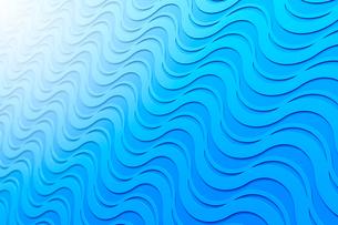 並ぶ波状の線と光 CGのイラスト素材 [FYI03458184]
