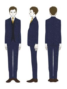 男性-スーツ-全身のイラスト素材 [FYI03458357]