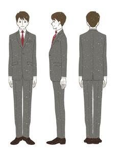 男性-スーツ-全身のイラスト素材 [FYI03458358]