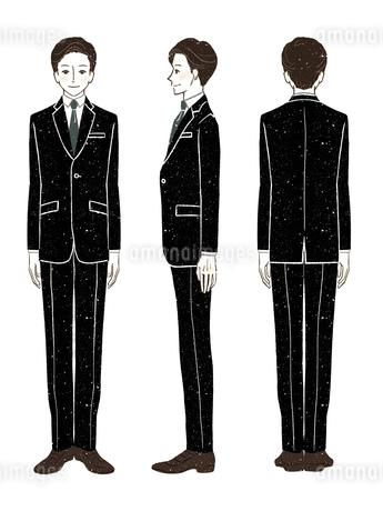 男性-スーツ-全身のイラスト素材 [FYI03458359]
