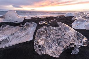 アイスランドのジュエリーアイスの写真素材 [FYI03458890]