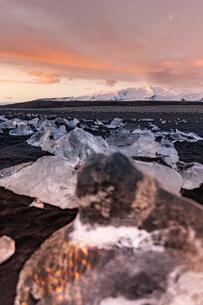 アイスランドのジュエリーアイスの写真素材 [FYI03458895]