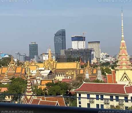王宮と高層ビルの写真素材 [FYI03459015]