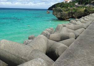 沖縄の海 古宇利島の写真素材 [FYI03459515]