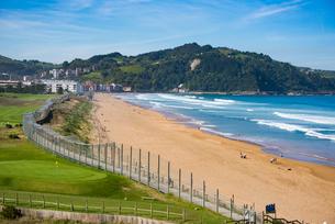 バスク地方:サラウツの海岸の写真素材 [FYI03459536]