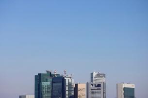 汐留の高層ビル群ワイドの写真素材 [FYI03459666]
