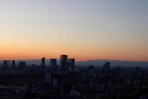 IT企業が集う渋谷ビットバレーの夕暮れの写真素材 [FYI03459701]