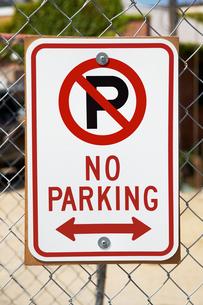 No parking signの写真素材 [FYI03459956]