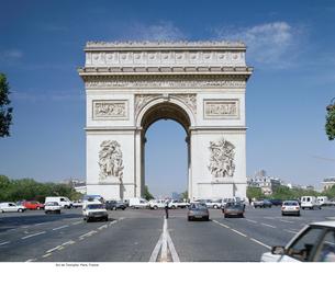 Arc de Triomphe, Paris, Franceの写真素材 [FYI03460133]