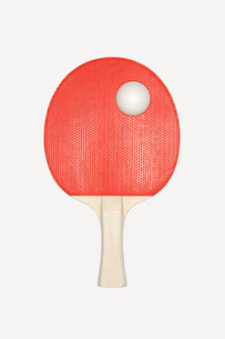 Table tennis bat and ballの写真素材 [FYI03460208]