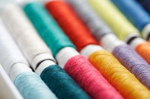 Close up of cotton rollsの写真素材 [FYI03460242]