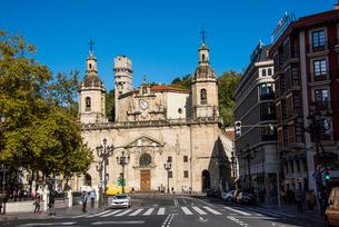 サンニコラス教会:ビルバオ旧市街の写真素材 [FYI03460830]