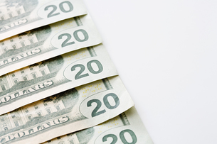 Twenty dollar notesの写真素材 [FYI03460856]