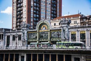 ビルバオの中央駅:サンタンデール駅の写真素材 [FYI03460927]