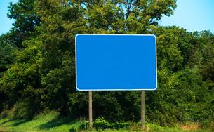 Blank road signの写真素材 [FYI03461205]