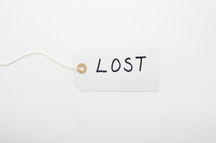 Lost written on a labelの写真素材 [FYI03464339]