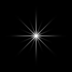 黒バックの光素材のイラスト素材 [FYI03465634]