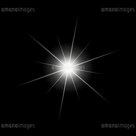 黒バックの光素材のイラスト素材 [FYI03465652]