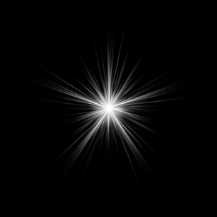 黒バックの光素材のイラスト素材 [FYI03465670]