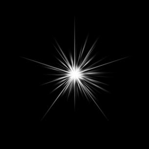 黒バックの光素材のイラスト素材 [FYI03465681]