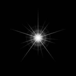 黒バックの光素材のイラスト素材 [FYI03465687]