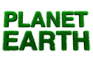 Planet earth in grassのイラスト素材 [FYI03465742]