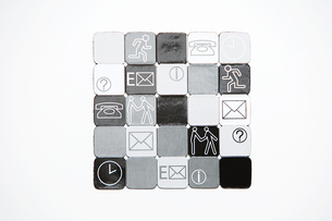 Squares with illustrations on themの写真素材 [FYI03465819]