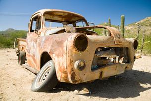 Wreck of a truckの写真素材 [FYI03466916]
