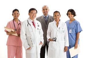 Portrait of doctors and nursesの写真素材 [FYI03467382]