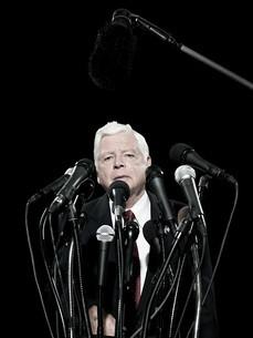 Politician and microphonesの写真素材 [FYI03467542]